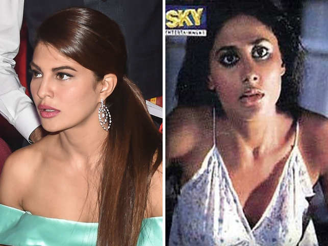 Jacqueline Fernandez (L) had admitted that she was taking acting classes in Los Angeles in order to get experimental with her roles.  Smita Patil (R) in a scene from 'Arth'.