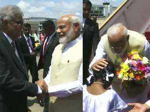Watch: PM Narendra Modi arrives in Colombo