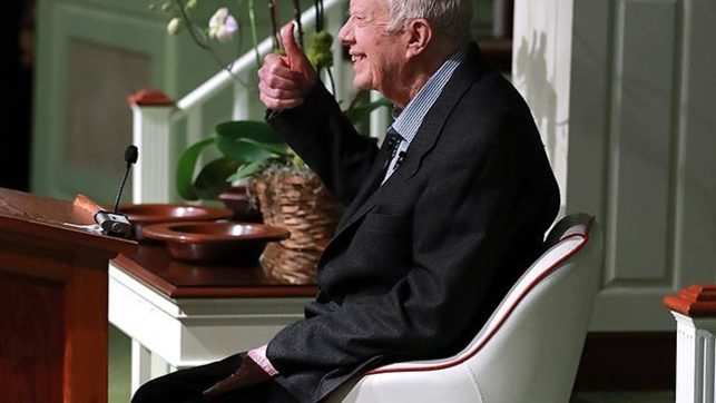 Former US President Jimmy Carter, 94-yr-old, resumes teaching Sunday School after hip surgery
