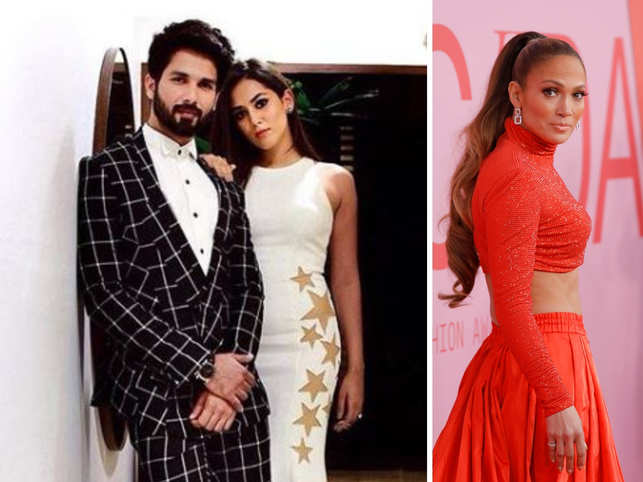 Et Close Up Full Length 18 Shahid And Wife Mira Kapoor From Left Jennifer Lopez