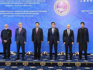 PM Modi-Imran Khan exchange pleasantries during SCO Summit in Bishkek