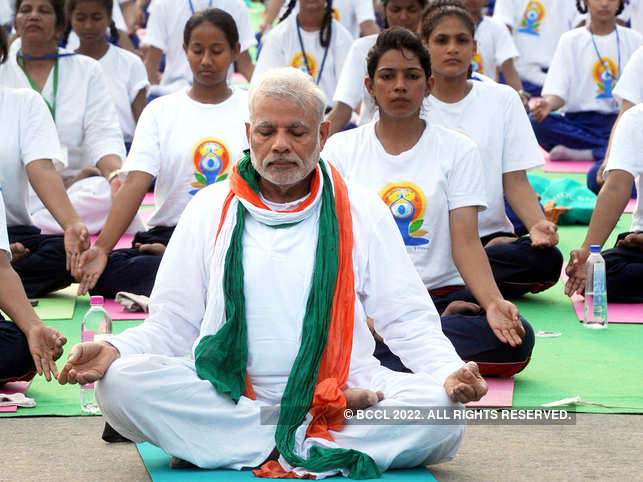PM Modi tweets another Yoga Day video, demonstrates the 'locust posture'