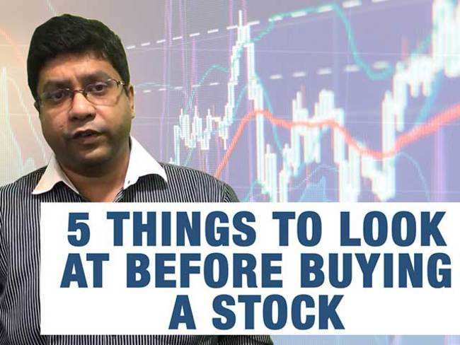 Checklist: 5 things to look at before buying a stock