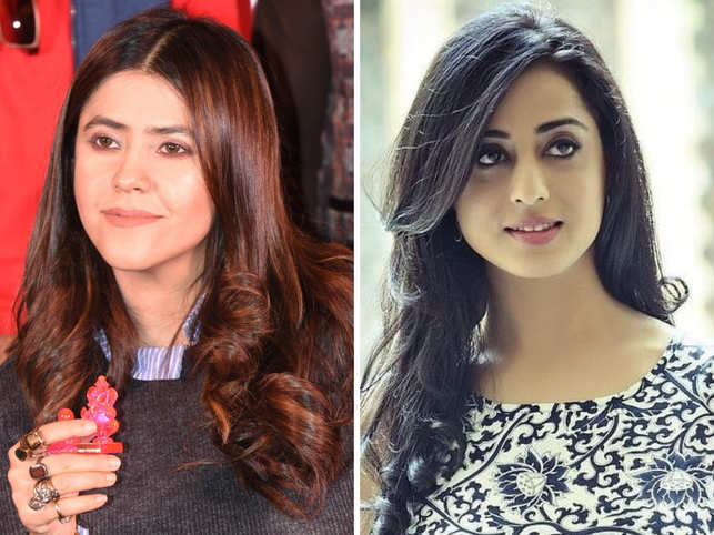 Mahie Gill (R) escaped the attack as she ran and sat in a car; Ekta Kapoor took to Twitter to condemn the violent act.