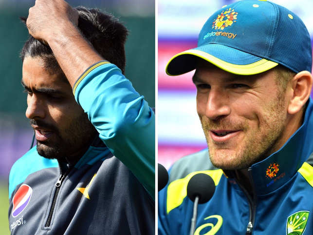 It's a message that coaches drill in heads of trainees. Here are a few of the best catches of the World Cup this week, even if they didn't always result in the fielder's team winning.In pic: Babar Azam (L), Aaron Finch (R)