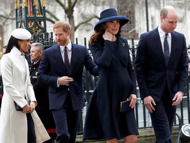 ​Meghan Markle, Prince Harry, Kate Middleton​ and Prince William at the Commonwealth Service at Westminster Abbey in London​.
