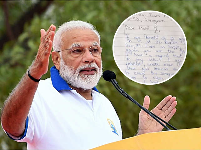 11-year-old girl complains of dirty surroundings in a letter to PM; Narendra Modi replies