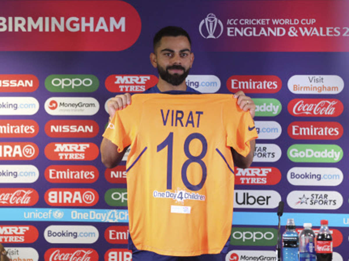 Virat Kohli Indian Cricketers To Sport Orange Jersey In