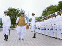 Rajnath Singh, Andhra CM review infra projects, Navy plans at Eastern Naval Command