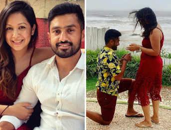The grand proposal: Karun Nair gets engaged to longtime girlfriend Sanaya Takariwala