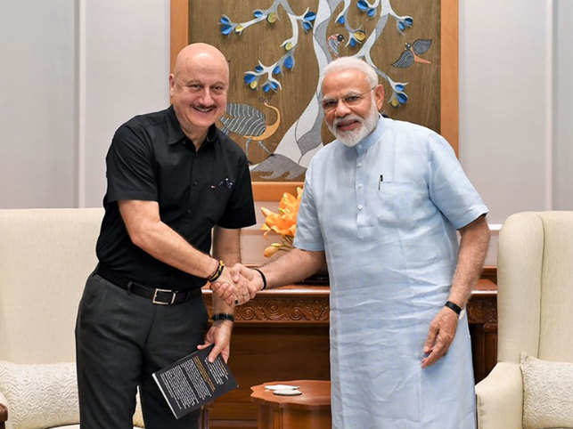 Anupam Kher shared pictures with the Prime Minister on Twitter.