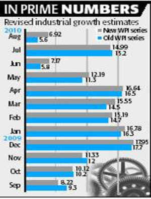 FY10, Q1 growth to go up on inflation index update