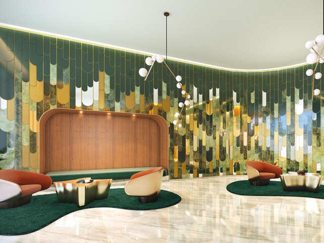 Art inspired lobby at Phoenix Kessaku