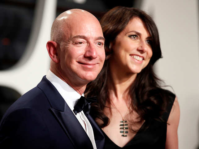 Jeff Bezos, left, will retain a 12 percent stake and remain the world's richest man.