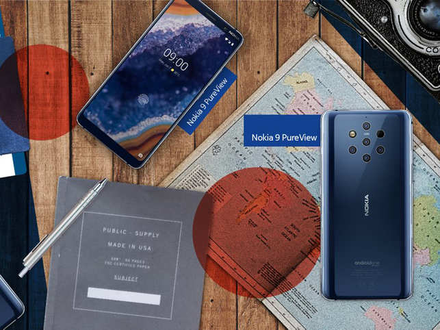 ​Nokia 9 PureView's five-camera module at the back which includes three monochrome and two RGB sensors.