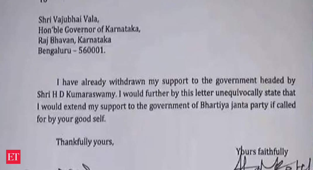 Karnataka: Independent MLA Nagesh extends support to BJP after resigning
