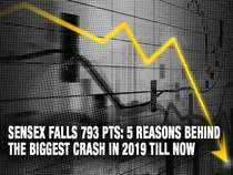 Sensex falls 793 pts: 5 reasons behind the biggest crash in 2019 till now