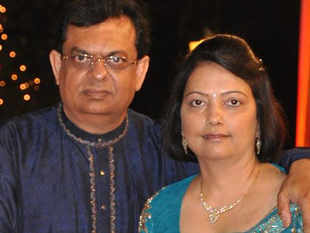 Narendra Gajria (L) said he never imagined having a joint account with his wife Heena (R) in the UAE would cause so much inconvenience. 