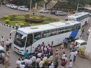 BJP ramada bus