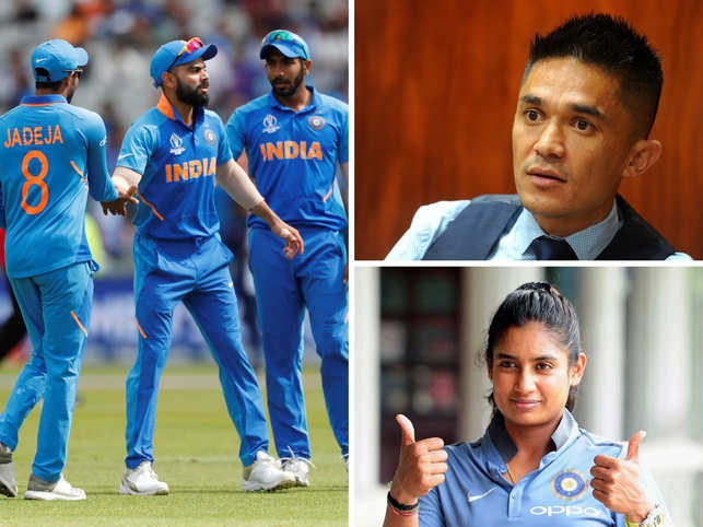 Experts from various fields like Sunil Chhetri (top right) and Mithali Raj (bottom right) showed their sporting spirit for Virat Kohli (Left) and teammates.