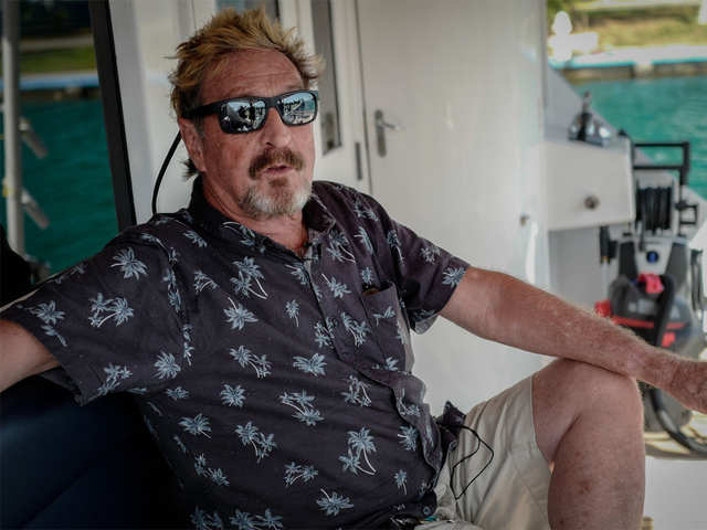 Running for president: John McAfee wants Dr D to craft his campaign message