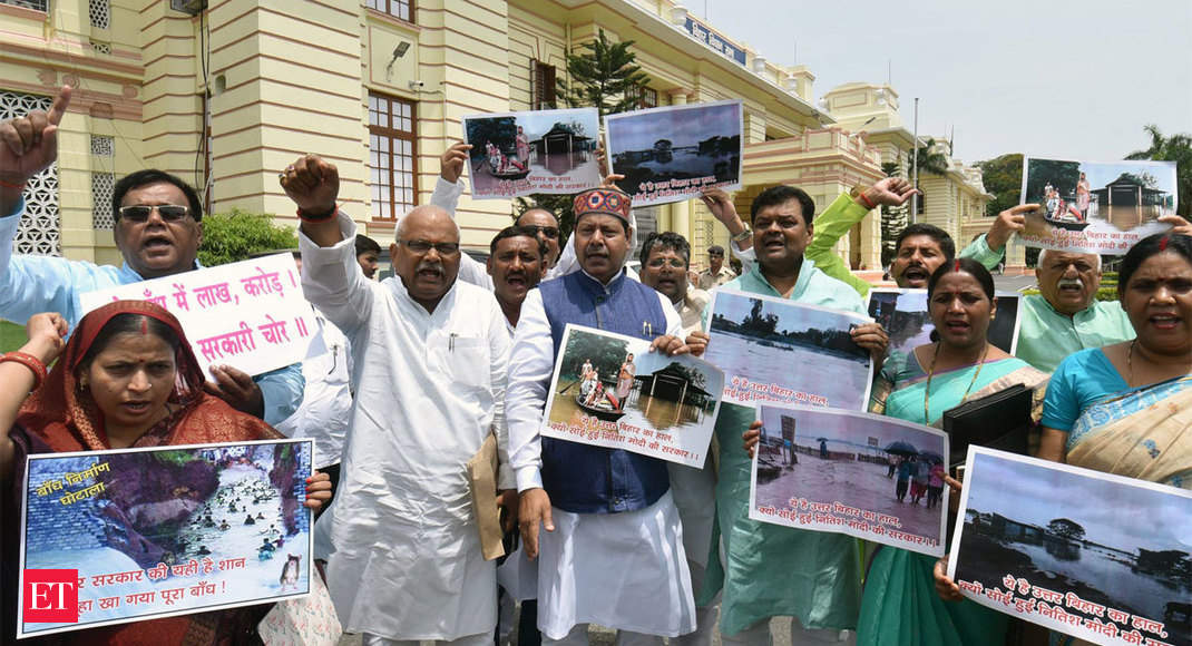 Opposition disrupts Bihar Assembly over floods