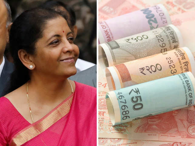 Finance Minister Nirmala Sitharaman's wardrobe matches our currency chest.
