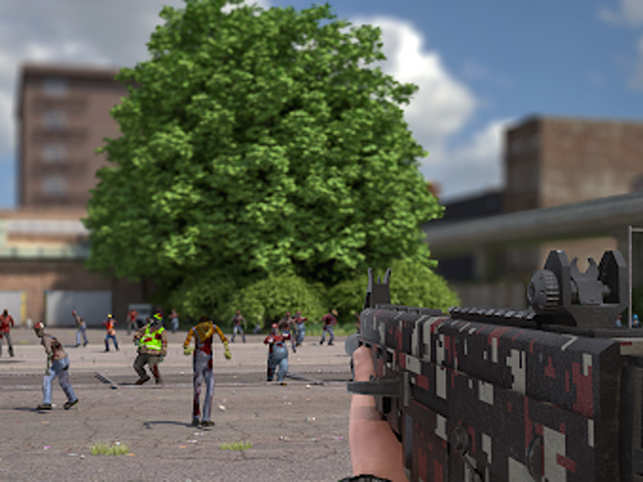 In later levels, zombie numbers increase and they move faster.