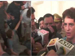Priyanka Gandhi says won't leave without meeting the victims of Sonbhadra