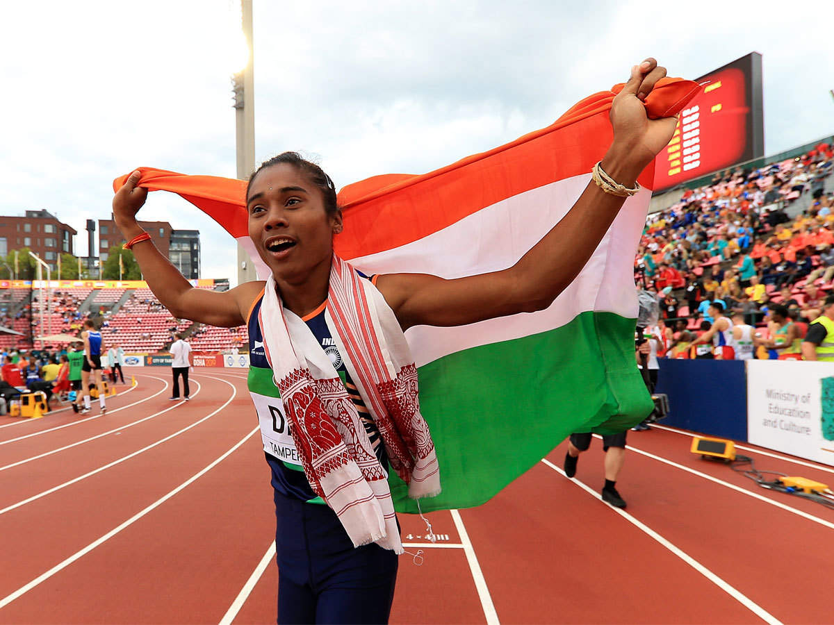 hima das: Hima Das returns to 400m run, grabs 5th gold in