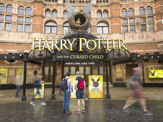 LONDON, ENGLAND - JUNE 08: A general view of The Palace Theatre, following the first preview of the Harry Potter and The Cursed Child play last night, on June 8, 2016 in London, England. The new Harry Potter play follows on from the British author J.K. Rowling's acclaimed series of books about a boy wizard. (Photo by Jack Taylor/Getty Images)