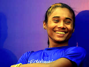 Hima Das said that she had help from her friends to cook the meal.