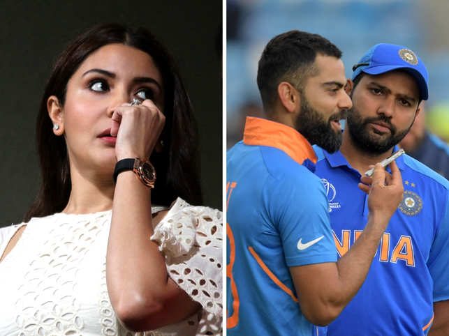 Is there cold 'Insta war' brewing between Rohit Sharma (R) and Anushka Sharma (L) because of Virat Kohli (C)?