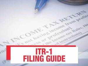 ITR filing guide: How to file ITR-1 online