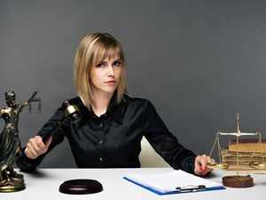 young-fair-woman-judge-works-in-her-office-picture-id1163137231