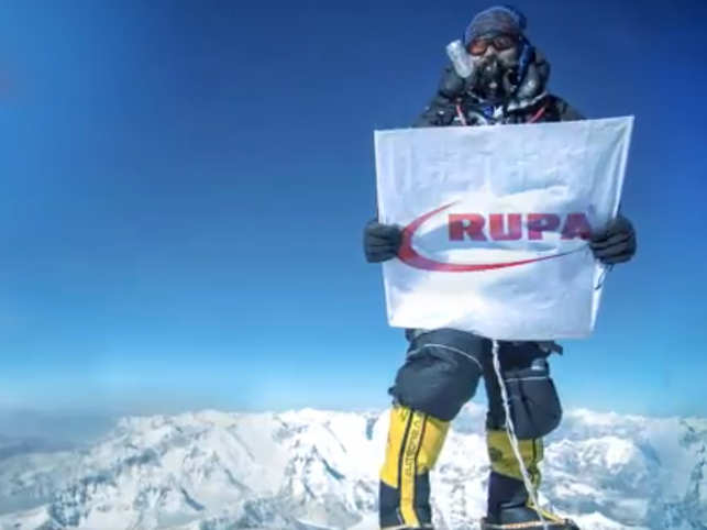 RUPA on top of the world at Mount Everest