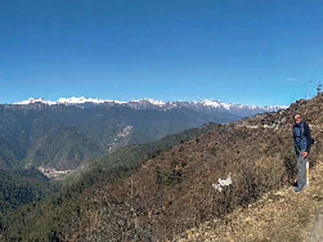 The pristine hilly ranges of Bhutan.