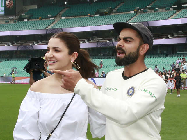 Anushak Sharma  had previously accompanied Virat Kohli at the India World Cup in England as well. ​