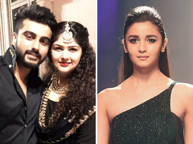 ​Anshula (C), sister of Arjun Kapoor (L), confirmed that Bollywood actors like Varun Dhawan and Alia Bhatt (R) have come onboard to support the venture.