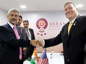 EAM S Jaishankar meets Mike Pompeo in Bangkok