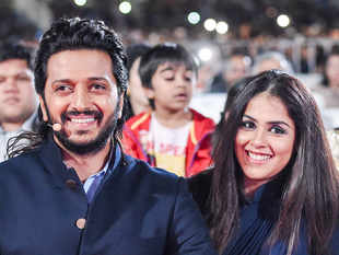 After seeing the 'distressing and disturbing visuals', Riteish (L) and Genelia Deshmukh (R) made their contribution.