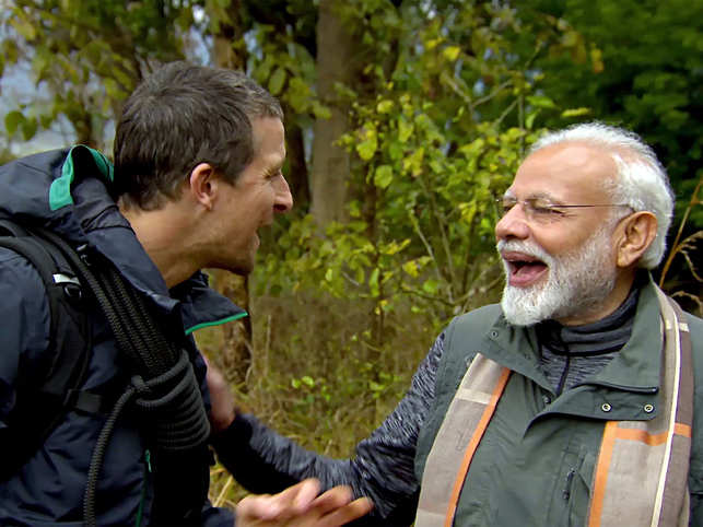 ​Narendra Modi spoke about his life and the environment with Bear Grylls on the show.​