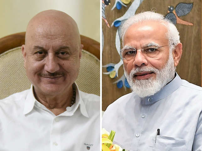 PM Modi congratulated Anupam Kher on the launch of his new book.
