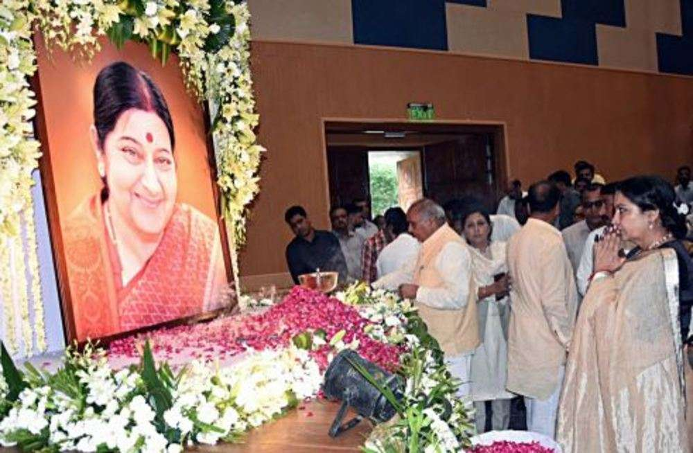 BJP organises condolence meet to pay tribute to Sushma Swaraj