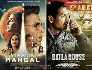 Box-office clash: 'Mission Mangal' becomes Akshay Kumar's biggest opener, 'Batla House' fares well