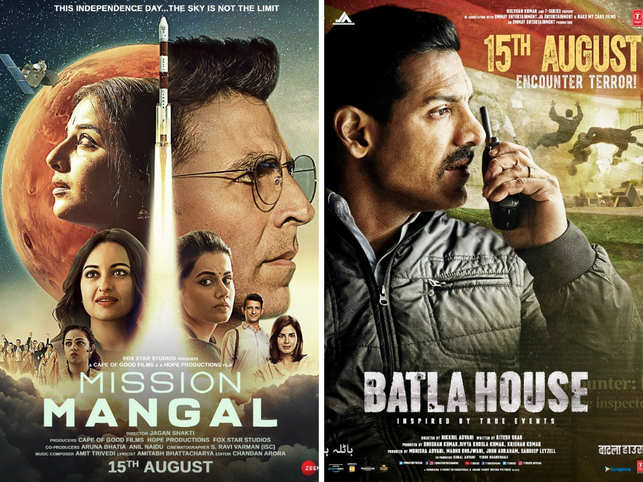Independence Day proved to be a great day for 'Mission Mangal' and 'Batla House'.