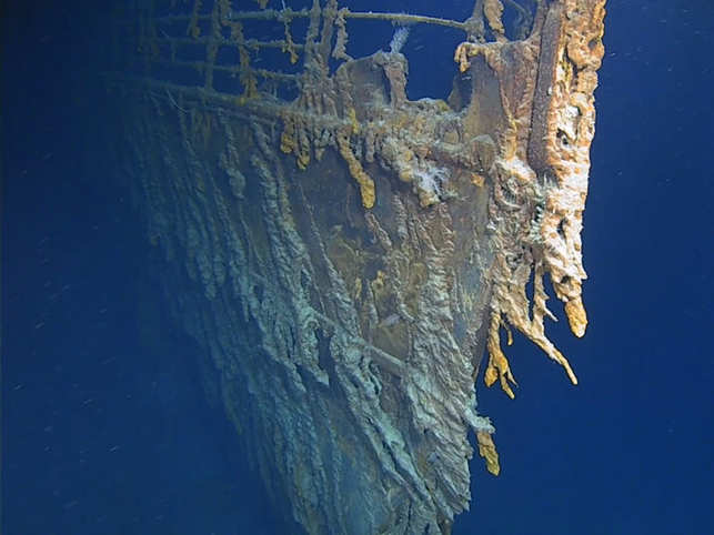 Where's the Titanic now? New pictures from seabed show captain's cabin has collapsed, crow's nest vanished