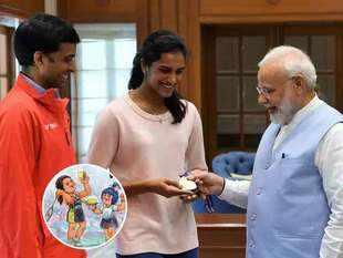 Watch: PV Sindhu meets PM Modi after winning Gold at BWF World Championships