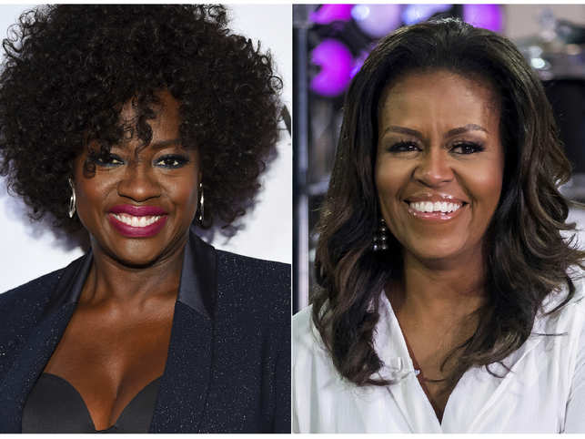 Viola Davis all set to play Michelle Obama (R) in new TV series.