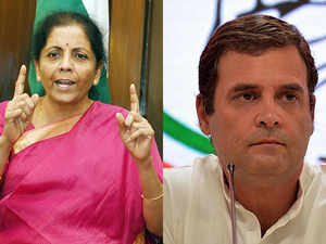 Rahu Gandhil should have consulted Cong FMs before accusing govt of stealing RBI money: Nirmala Sitharaman